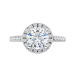 gia certified round brilliant natural diamond engagement ring white gold ring